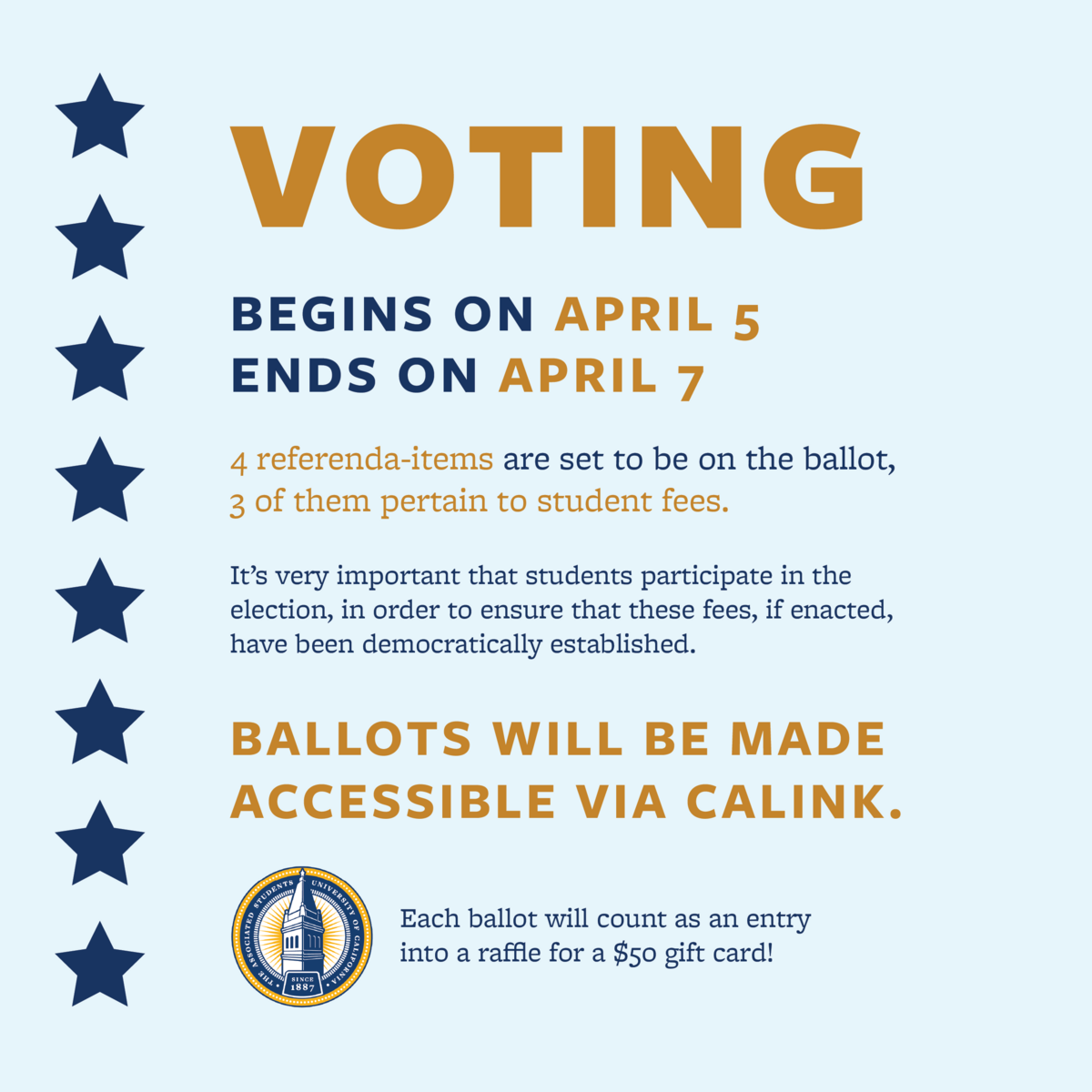 ASUC Information on How and When to Vote